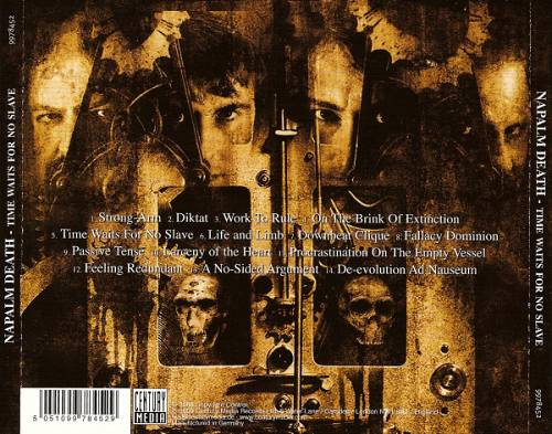 Napalm Death Time Waits For No Slave Cd