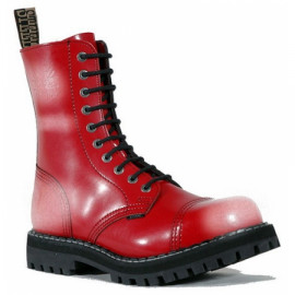 10 Eyelet Boots Red